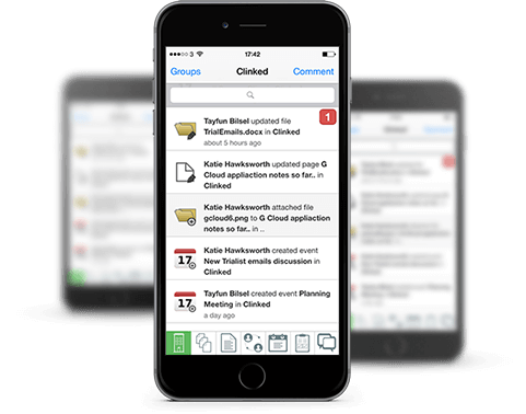 Clinked mobile apps for businesses
