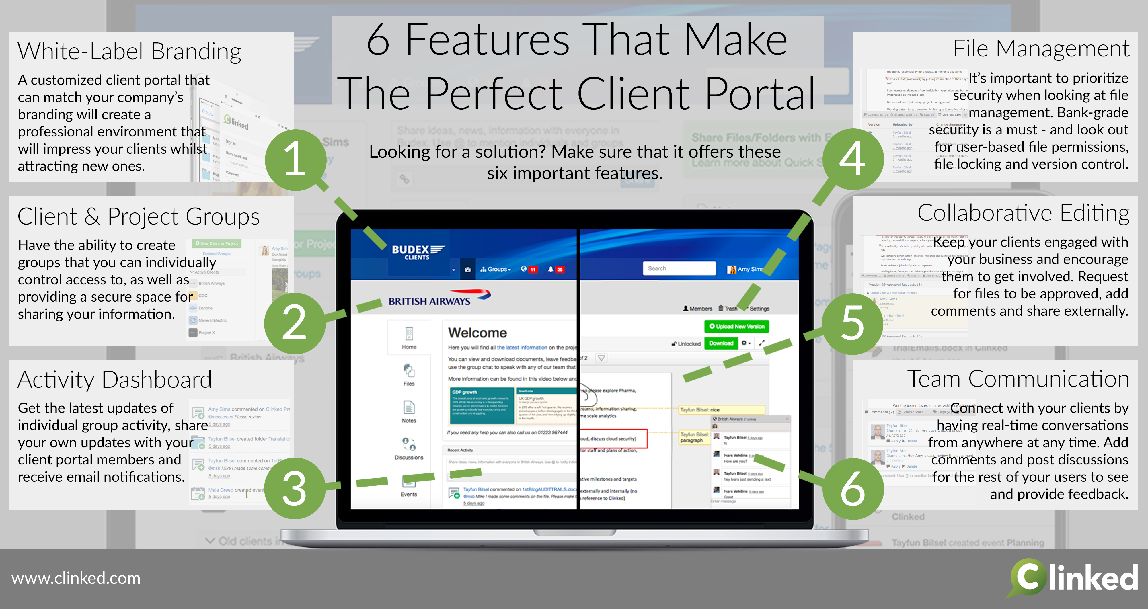 client portal solution features