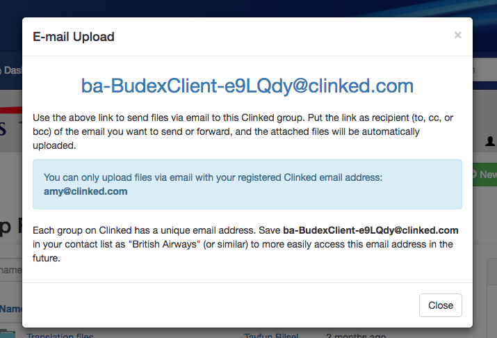 Clinked email