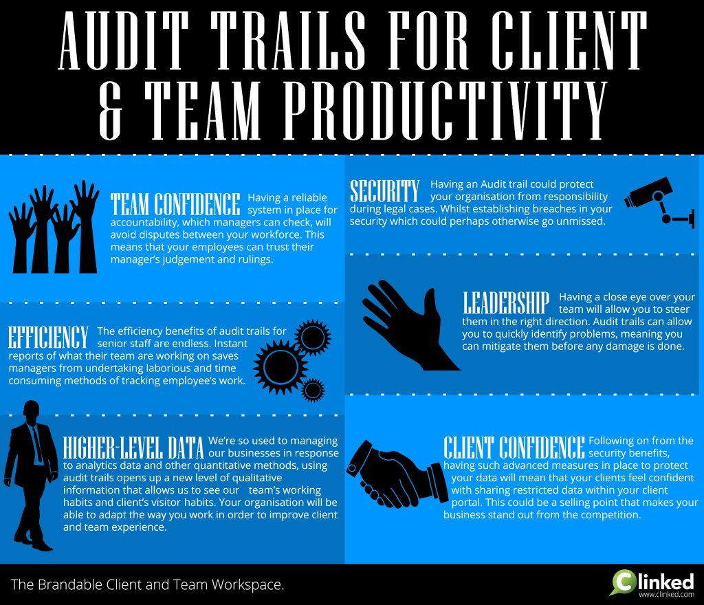 Audit trails for client and team productivity