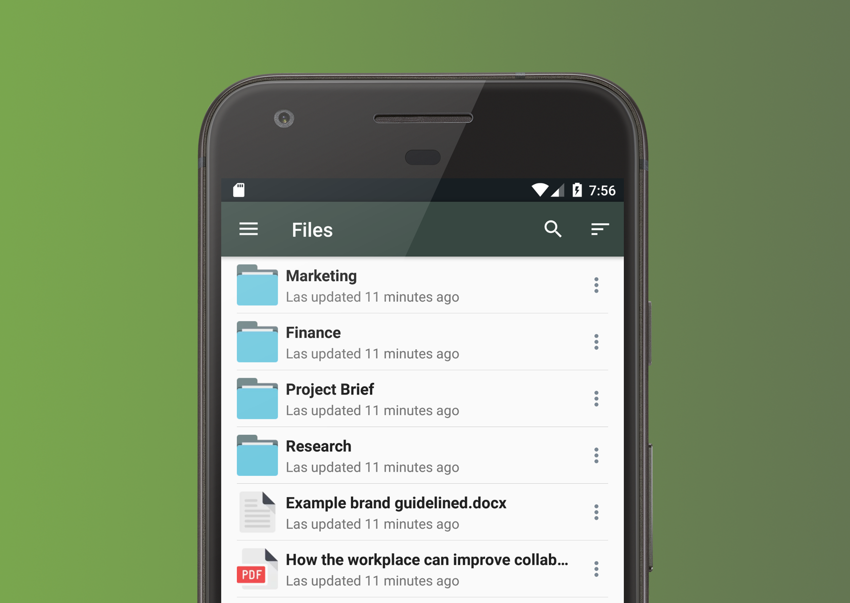Clinked Android mobile app