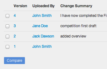Clinked version control feature