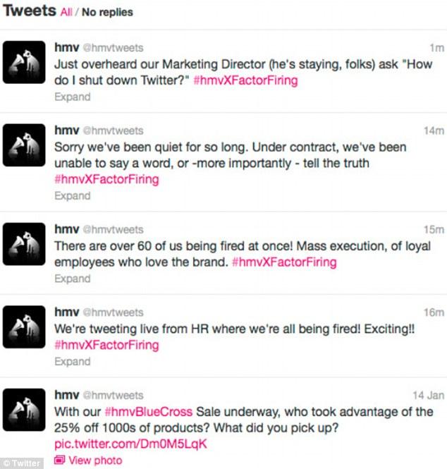 HMV social media fail
