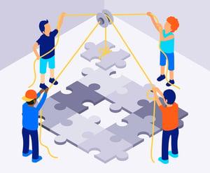 Isometric Teamwork Illustration (1)