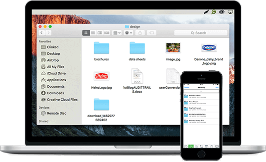 client portal mobile laptop display