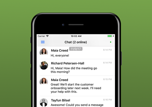 Clinked iOS iPhone Preview Chat