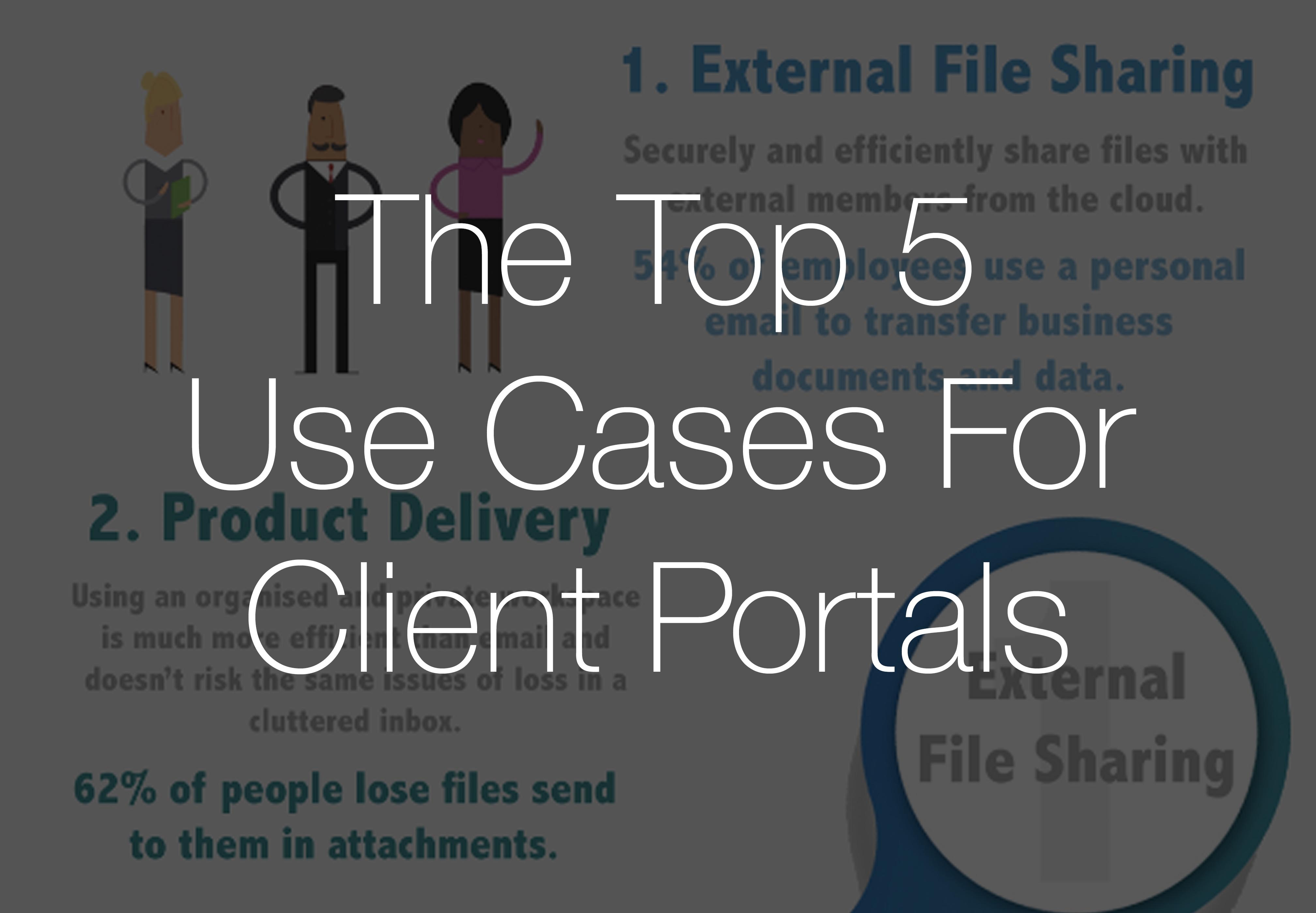 Infographic: The Top 5 Use Cases For Client Portals