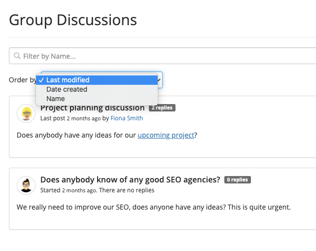 New Feature: Discussion Filters